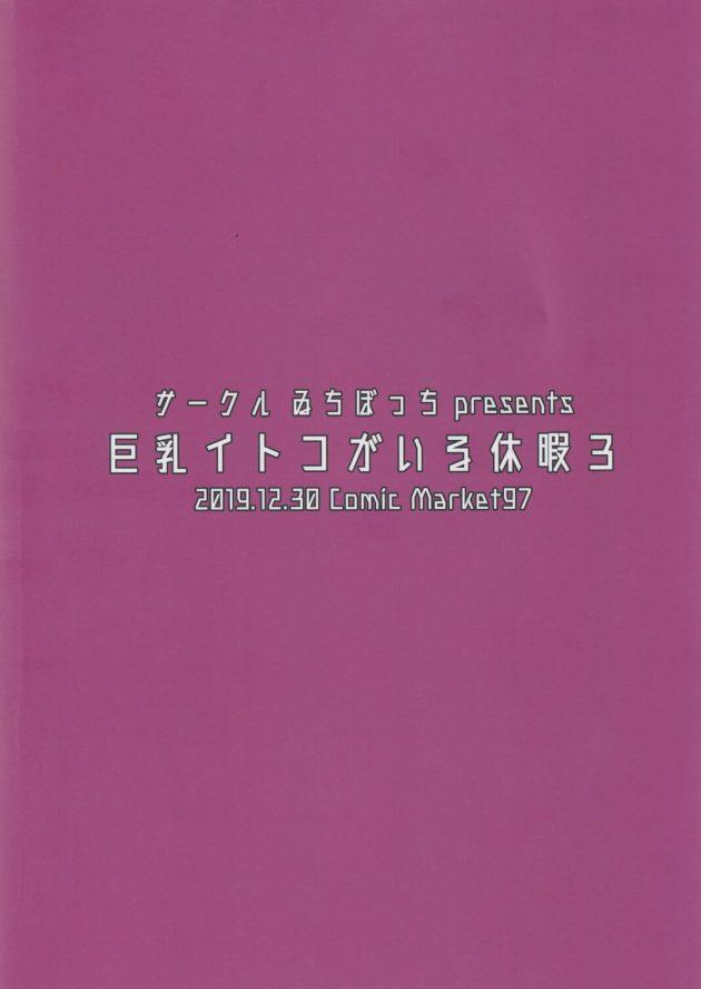 【エロ同人誌】巨乳イトコがいる休暇3【無料 エロ漫画】(23)